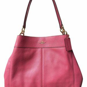 New Coach Lexy Pebbled Leather Shoulder Bag F28997
